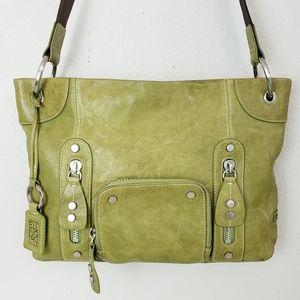 Ellington Green Leather Crossbody Shoulder Bag